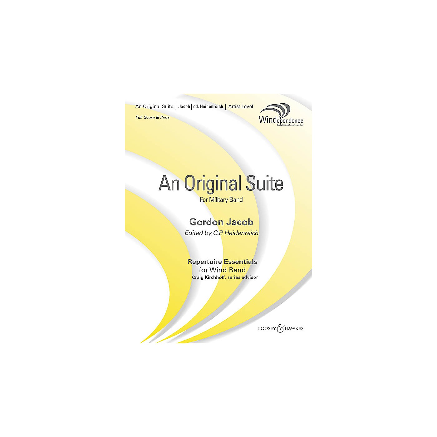 Boosey and Hawkes An Original Suite (Revised Edition) (Revised Full Score) Concert Band Level 5 Composed by Gordon Jacob thumbnail