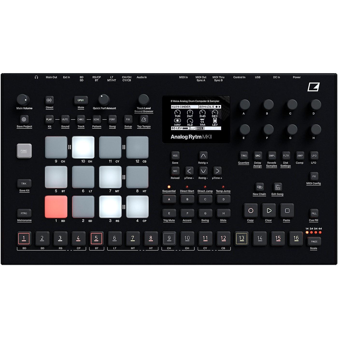 Elektron Analog Rytm MKII 8-voice Drum Machine, Black thumbnail