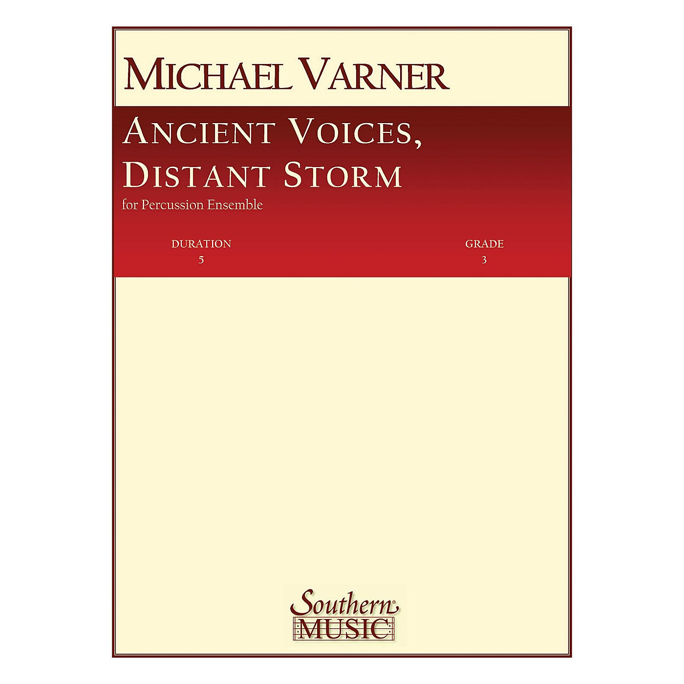 Hal Leonard Ancient Voices, Distant Storms Southern Music Series Composed by Varner, Michael thumbnail
