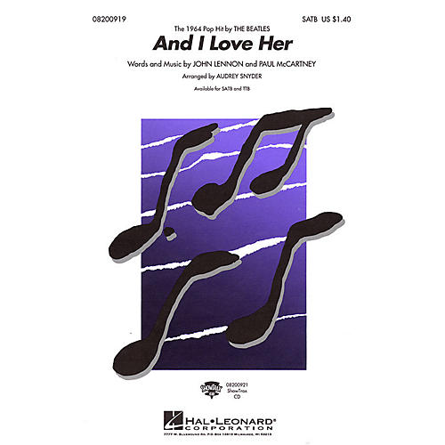 Hal Leonard And I Love Her TTB by The Beatles Arranged by Audrey Snyder thumbnail