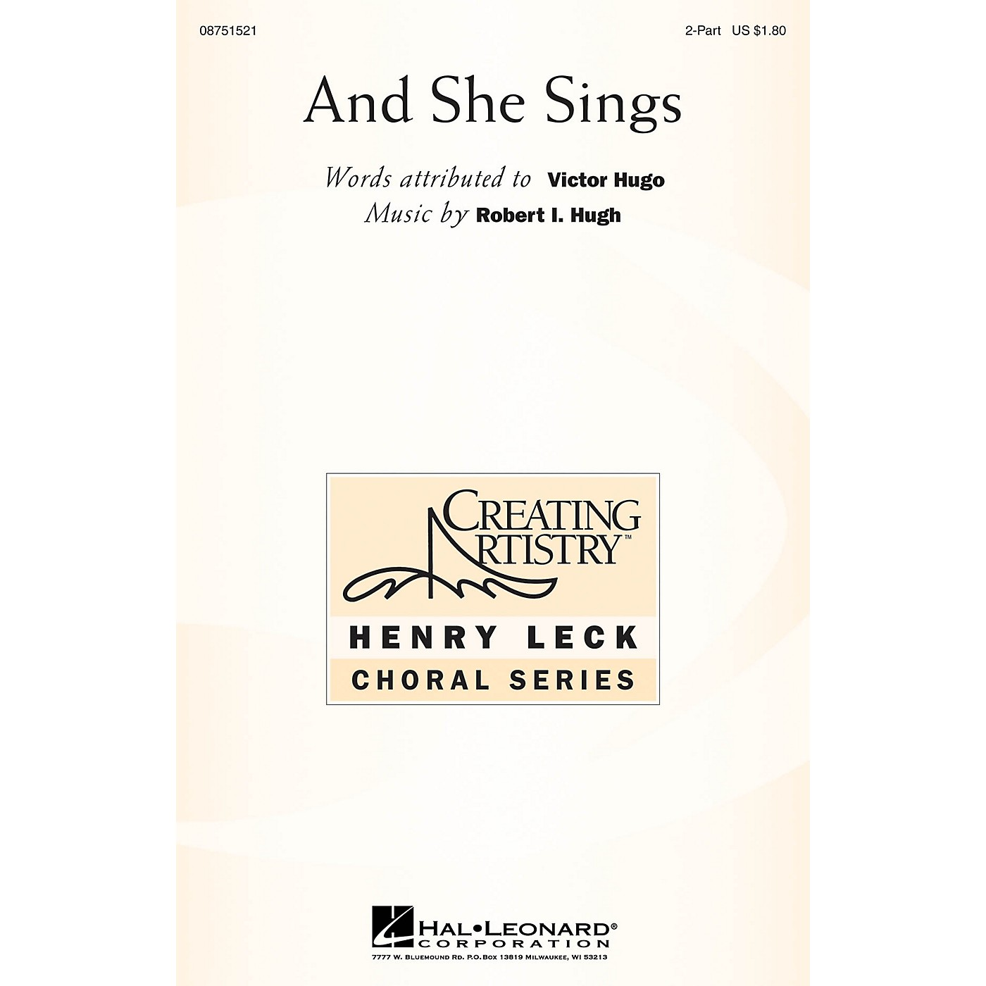 Hal Leonard And She Sings 2-Part composed by Robert Hugh thumbnail