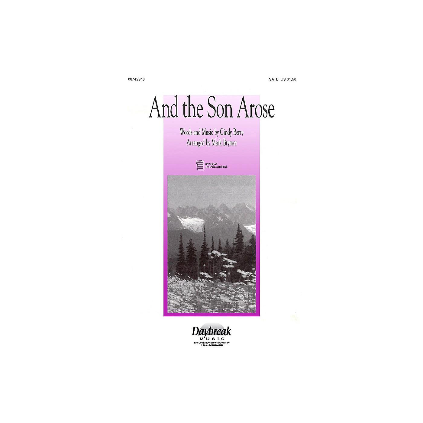 Hal Leonard And the Son Arose (SATB) SATB arranged by Mark Brymer thumbnail