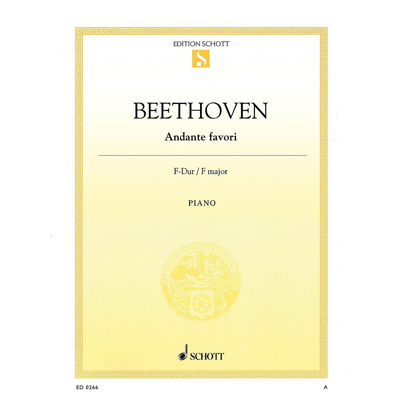 Schott Andante Favori in F Major, WoO 57 Schott Series thumbnail