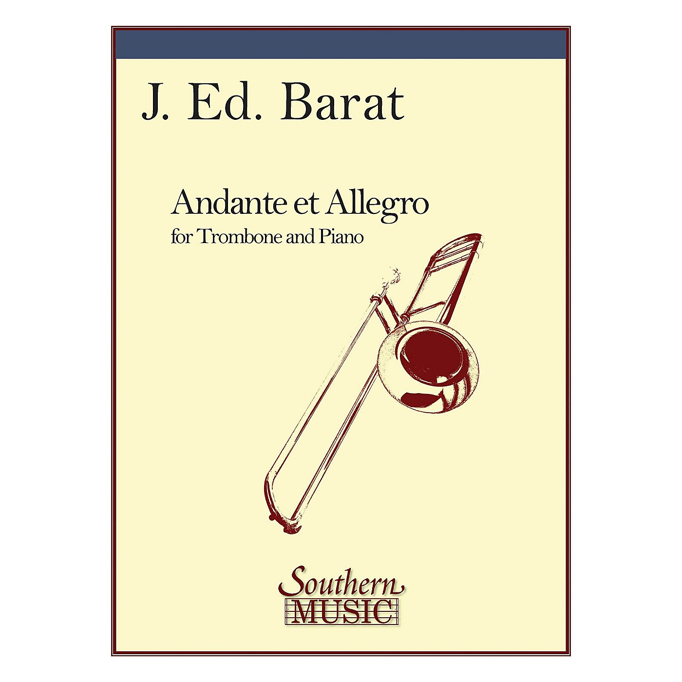 Southern Andante and Allegro (Trombone) Southern Music Series Composed by J.E. Barat thumbnail