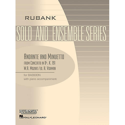 Rubank Publications Andante and Menuetto (from Conc in Bb, K.191) Rubank Solo/Ensemble Sheet Series thumbnail