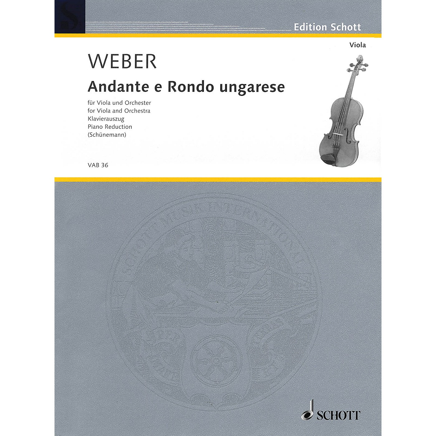 Schott Andante and Rondo Ungarese Schott Series Composed by Carl Maria von Weber Arranged by Georg Schunemann thumbnail