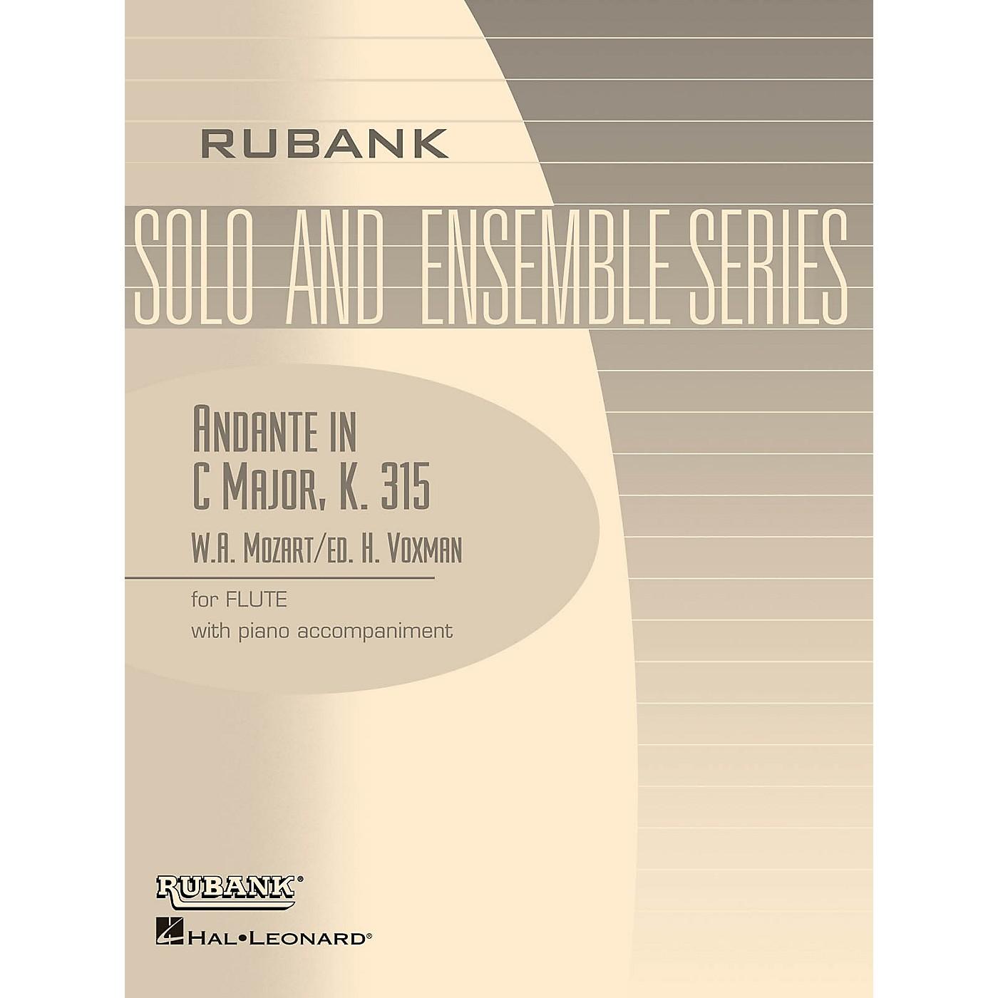 Rubank Publications Andante in C Major, K. 315 (Flute Solo with Piano - Grade 4) Rubank Solo/Ensemble Sheet Series thumbnail
