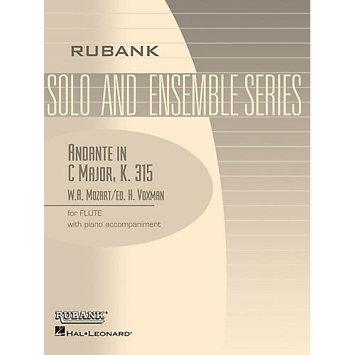 Rubank Publications Andante in C Major, K. 315 (Flute Solo with Piano - Grade 4) Rubank Solo/Ensemble Sheet Series thumbnail