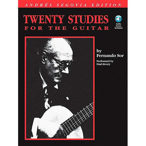 Hal Leonard Andres Segovia - 20 Studies for The Guitar Book/CD Package thumbnail