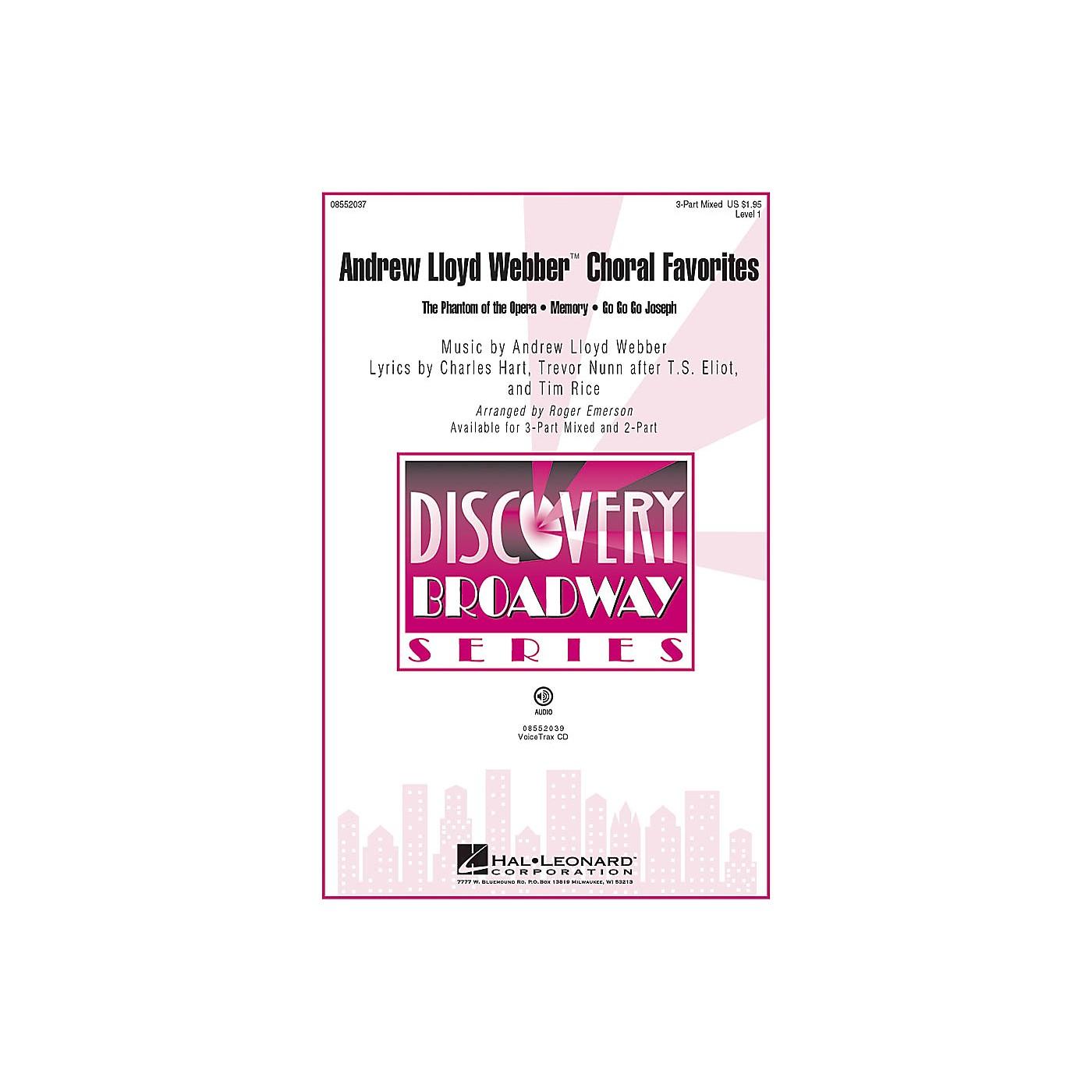 Hal Leonard Andrew Lloyd Webber Choral Favorites VoiceTrax CD Arranged by Roger Emerson thumbnail