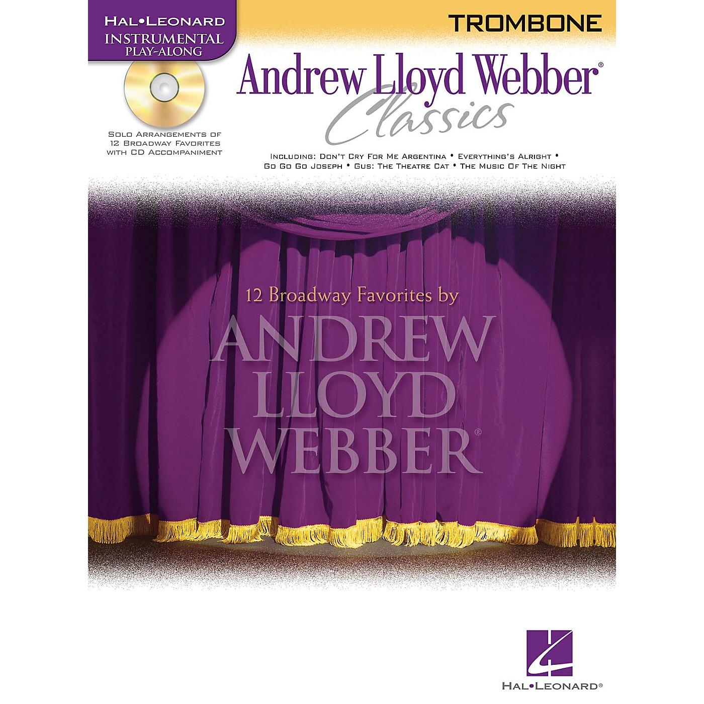 Hal Leonard Andrew Lloyd Webber Classics - Trombone Instrumental Play-Along Series Softcover with CD thumbnail