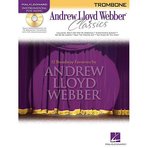 Hal Leonard Andrew Lloyd Webber Classics - Trombone Instrumental Play-Along Series Softcover with CD thumbnail