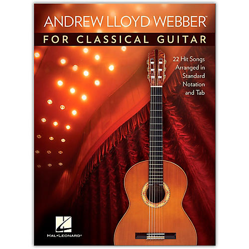 Hal Leonard Andrew Lloyd Webber for Classical Guitar - 22 Hit Songs Arranged in Standard Notation and Tab thumbnail