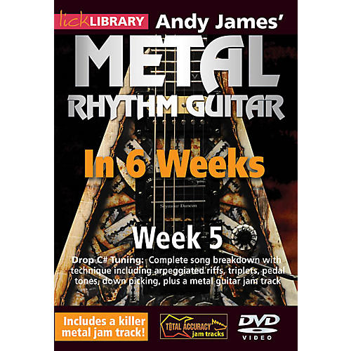 Licklibrary Andy James' Metal Rhythm Guitar in 6 Weeks (Week 5) Lick Library Series DVD Performed by Andy James thumbnail