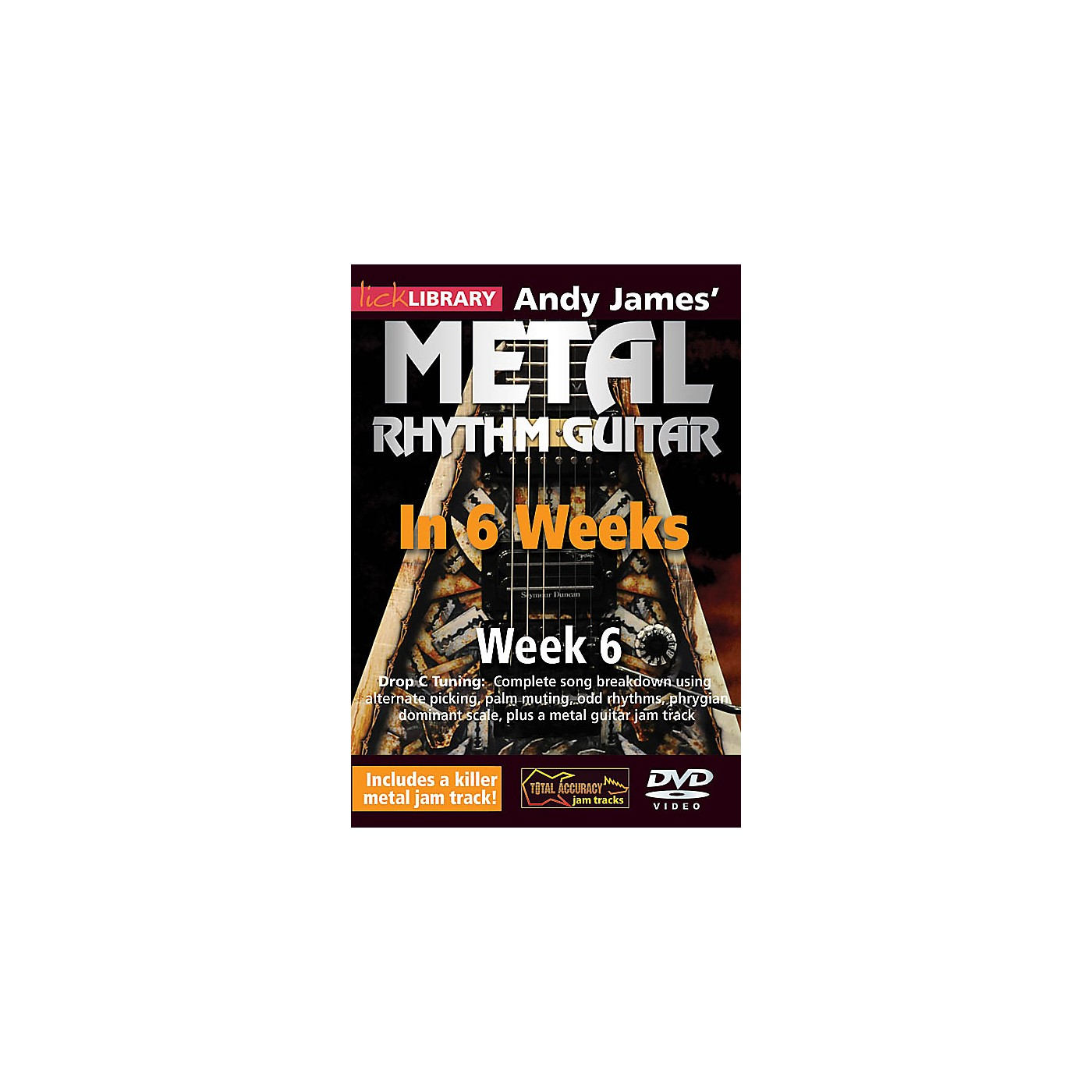 Licklibrary Andy James' Metal Rhythm Guitar in 6 Weeks (Week 6) Lick Library Series DVD Performed by Andy James thumbnail