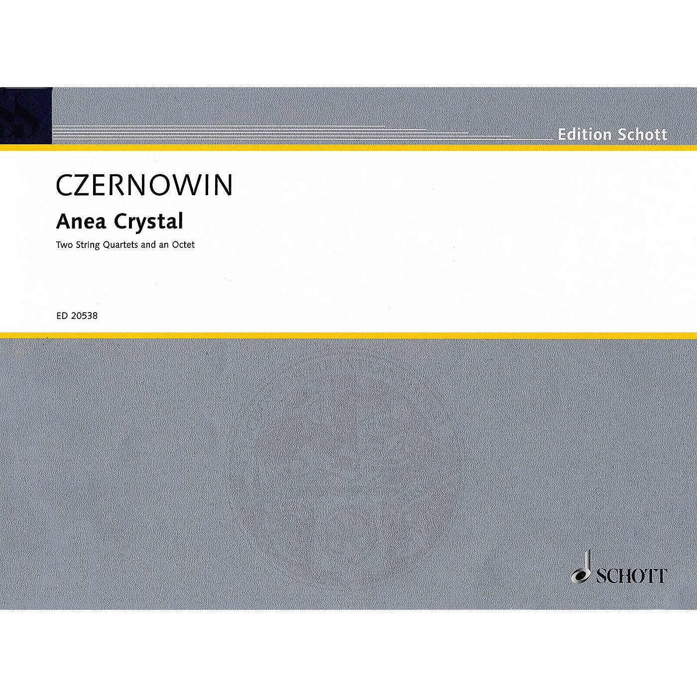 Schott Anea Crystal (String Quartet or Two String Quartets) String Series Softcover Composed by Chaya Czernowin thumbnail