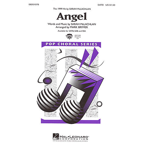 Hal Leonard Angel SATB by Sarah McLachlan arranged by Mark Brymer thumbnail