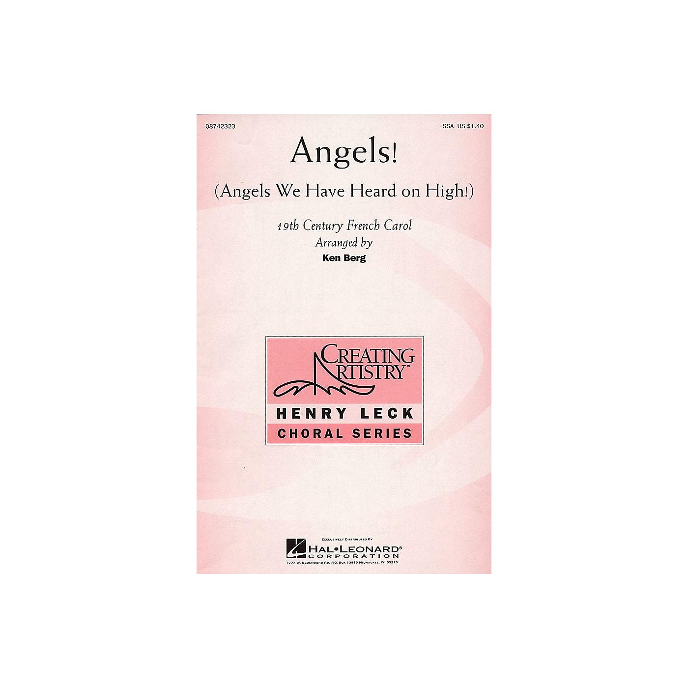 Hal Leonard Angels! (Angels We Have Heard on High!) SSA arranged by Ken Berg thumbnail
