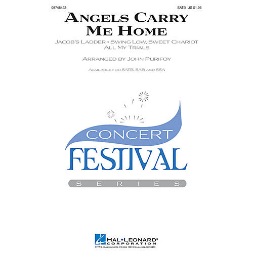 Hal Leonard Angels Carry Me Home (Medley) SSA Arranged by John Purifoy thumbnail