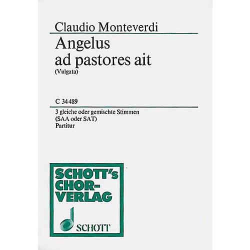 Schott Angelus Ad Pastores SAT Composed by Claudio Monteverdi thumbnail
