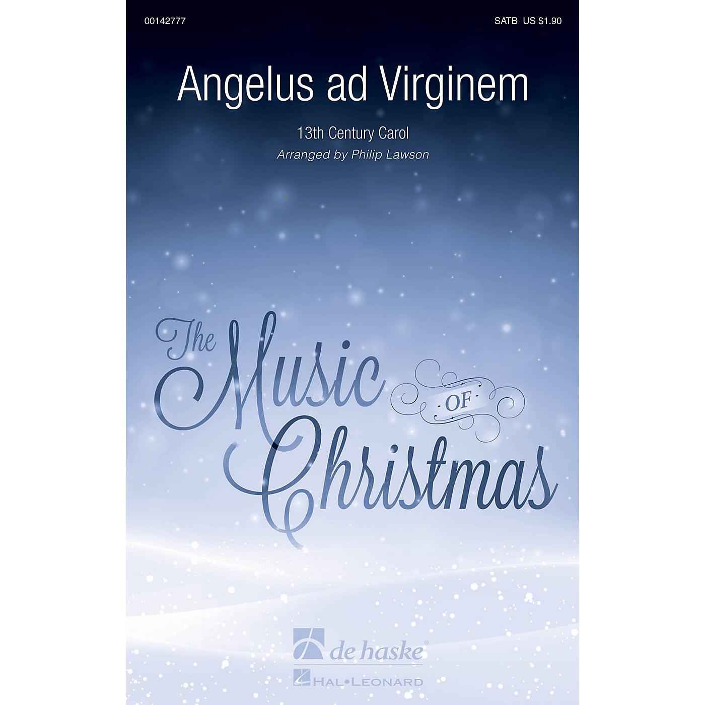 De Haske Music Angelus ad Virginem SATB arranged by Philip Lawson thumbnail