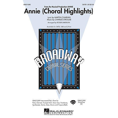 Hal Leonard Annie (Choral Highlights) Combo Parts Arranged by Roger Emerson thumbnail