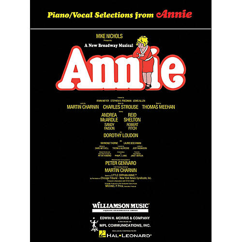 Hal Leonard Annie arranged for piano, vocal, and guitar (P/V/G) thumbnail