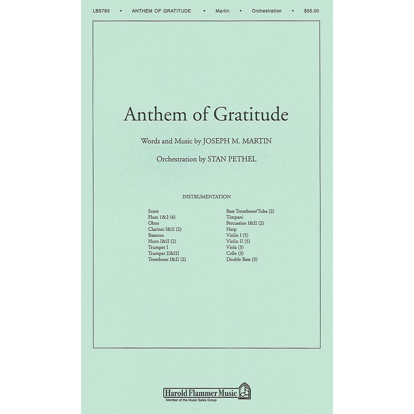Shawnee Press Anthem of Gratitude Score & Parts arranged by Stan Pethel thumbnail