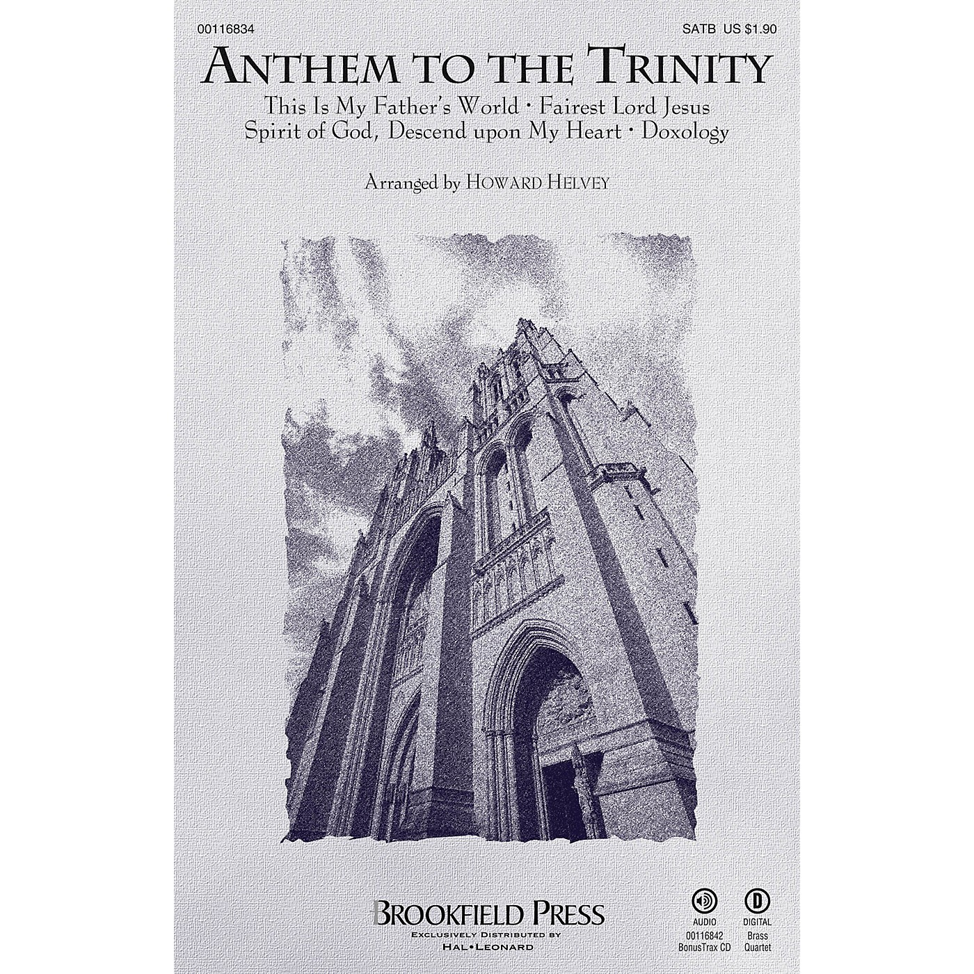 Brookfield Anthem to the Trinity SATB arranged by Howard Helvey thumbnail