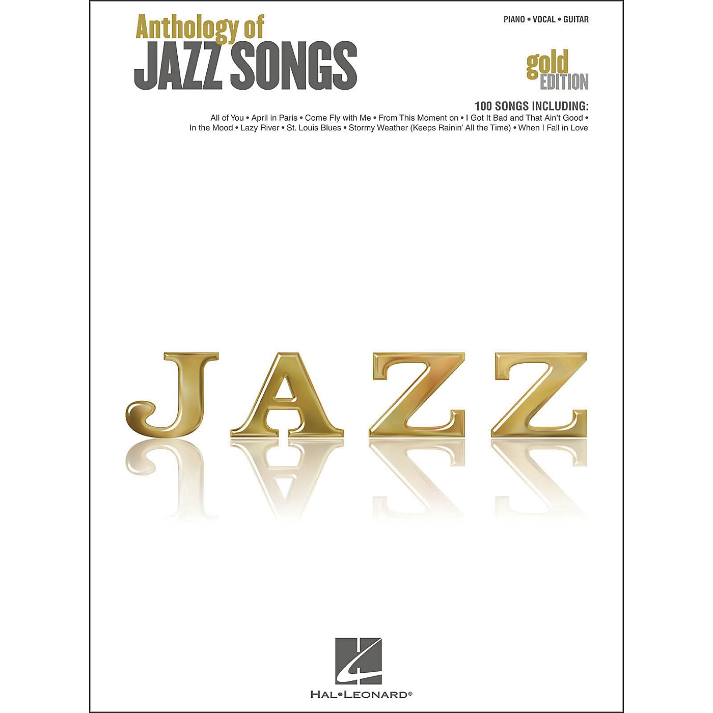 Hal Leonard Anthology Of Jazz Songs - Gold Edition arranged for piano, vocal, and guitar (P/V/G) thumbnail