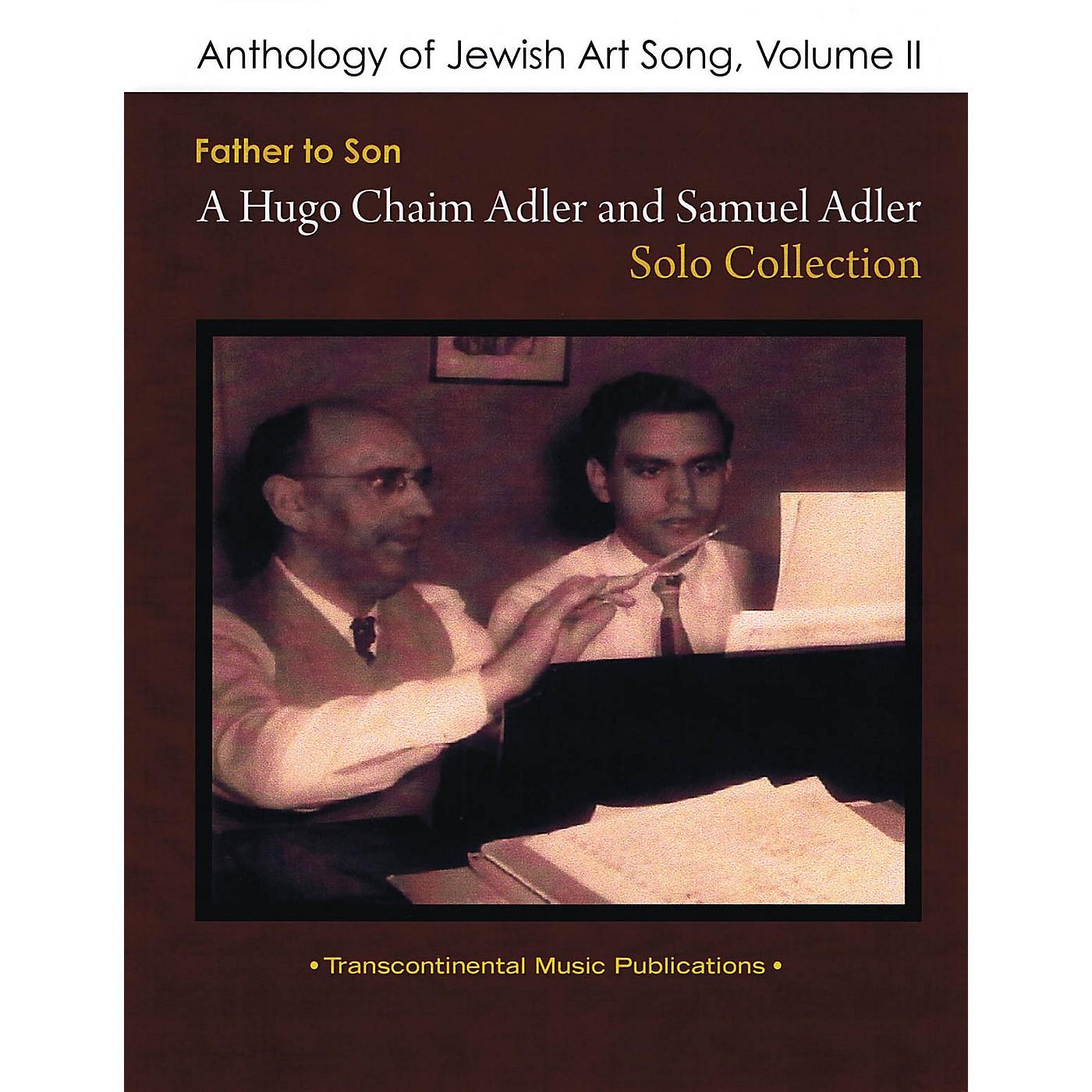 Transcontinental Music Anthology of Jewish Art Song, Vol. 2 Transcontinental Music Folios Series Softcover by Samuel Adler thumbnail