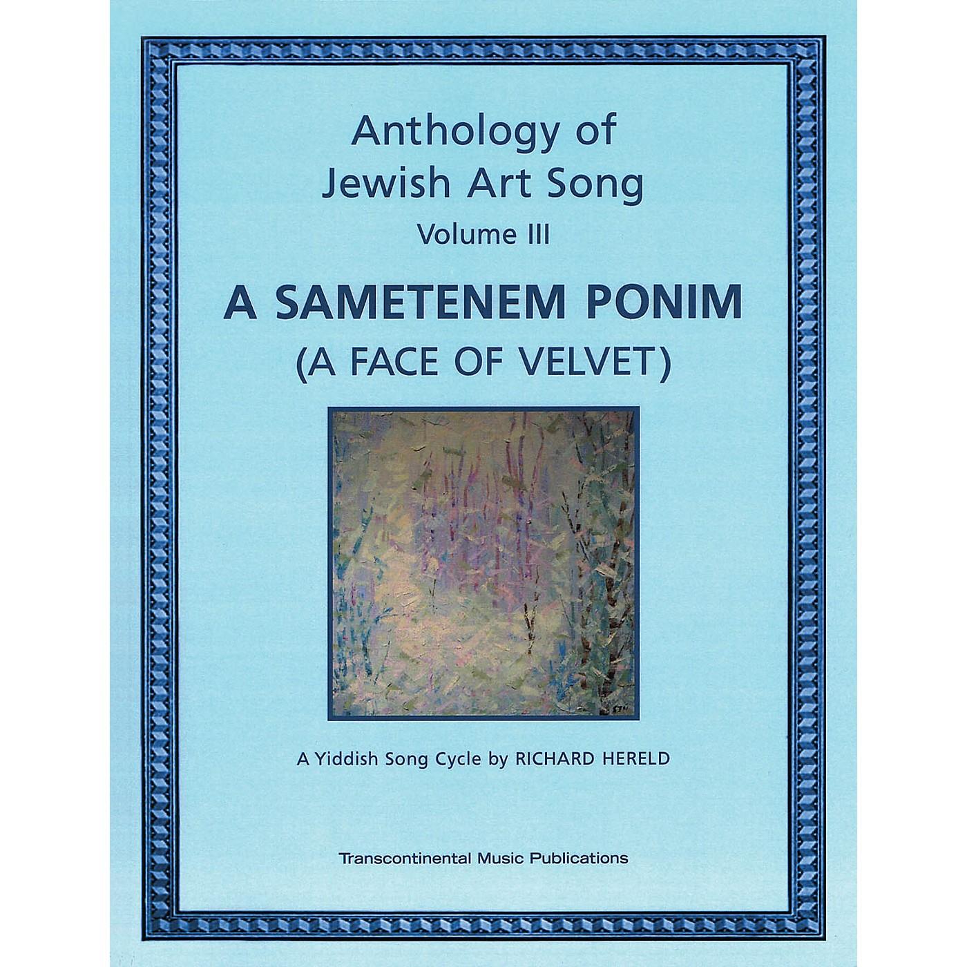 Transcontinental Music Anthology of Jewish Art Song, Vol. 3: A Sametenem Ponim (A Face of Velvet) Transcontinental Music by Hereld thumbnail