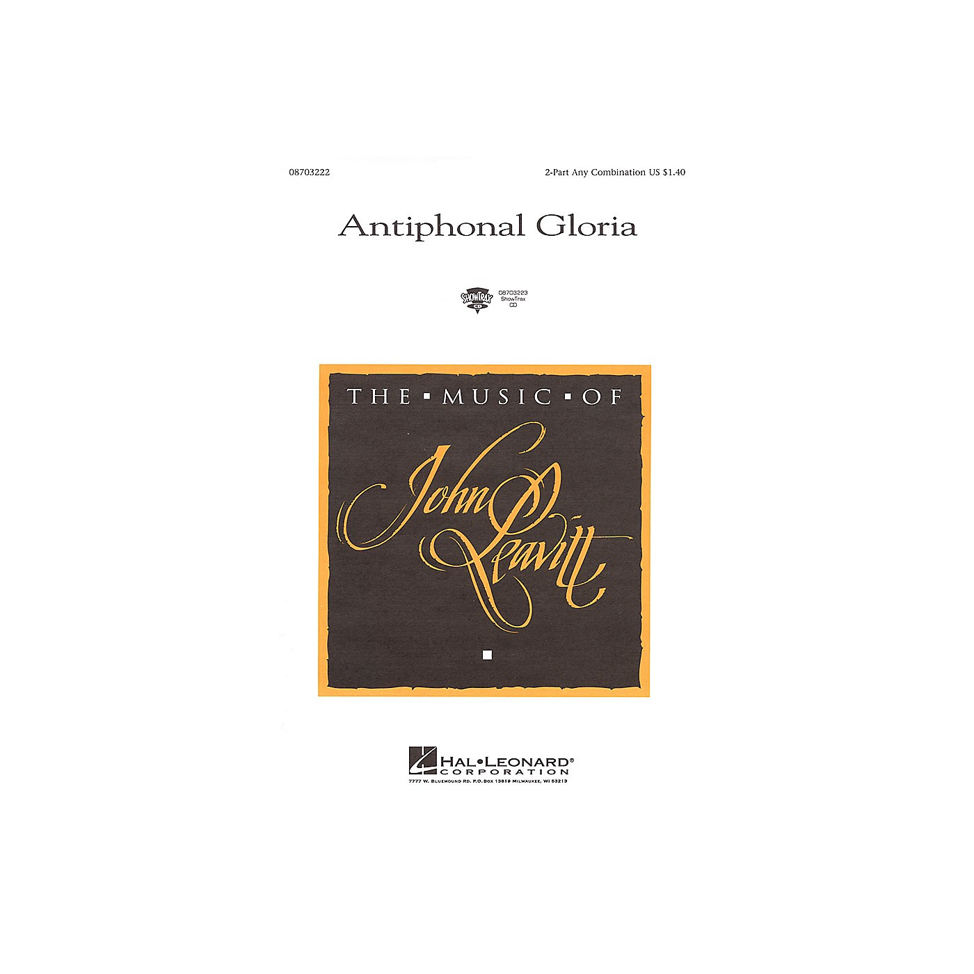Hal Leonard Antiphonal Gloria 2-Part any combination thumbnail