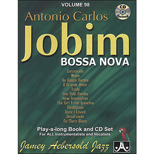Jamey Aebersold Antonio Carlos Jobim - Bossa Nova Book and CD thumbnail