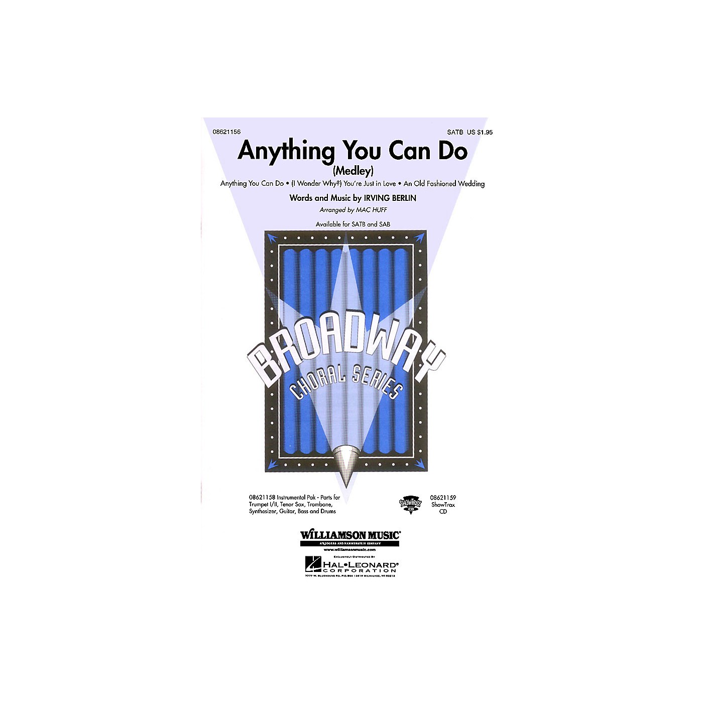 Hal Leonard Anything You Can Do (Medley) SATB arranged by Mac Huff thumbnail
