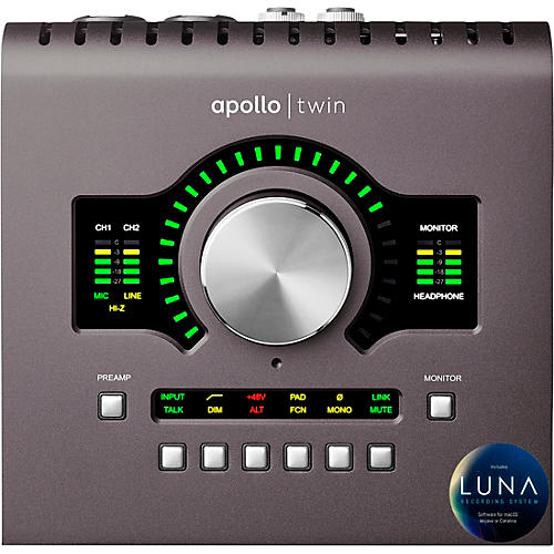Universal Audio Apollo Twin MKII QUAD Thunderbolt Audio Interface thumbnail