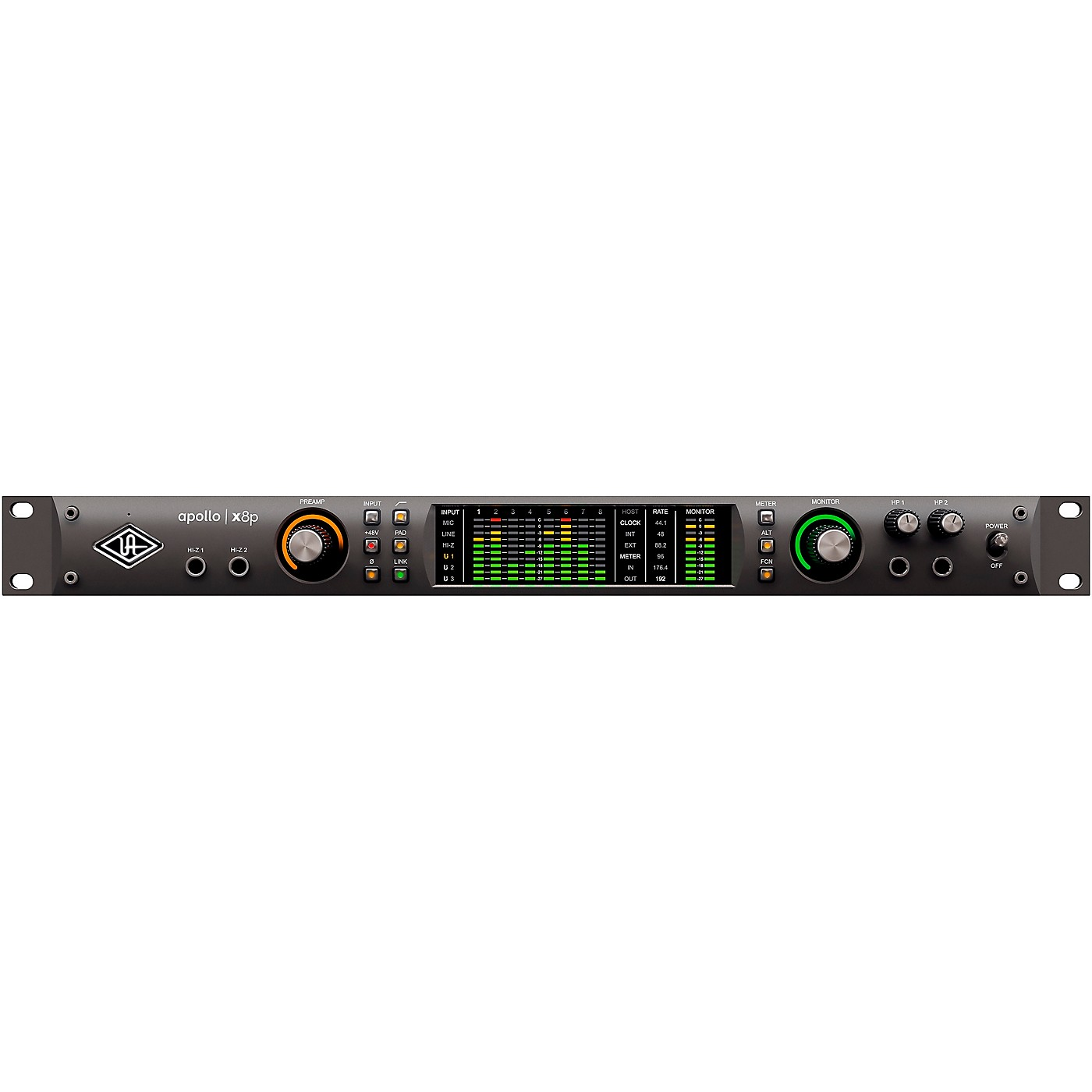 Universal Audio Apollo X8p Heritage Edition 8-Channel Thunderbolt Audio Interface With UAD DSP thumbnail