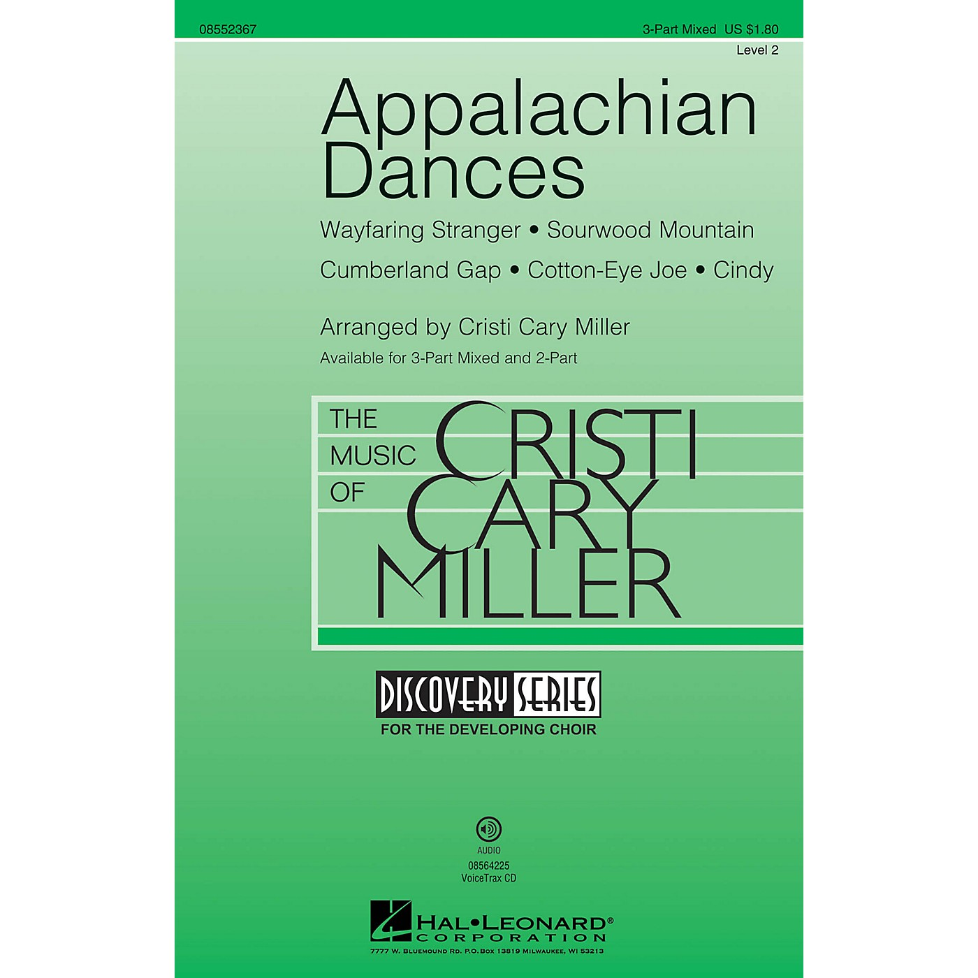 Hal Leonard Appalachian Dances (Medley) Discovery Level 2 VoiceTrax CD Arranged by Cristi Cary Miller thumbnail