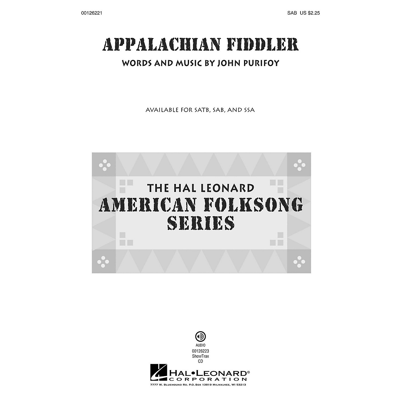 Hal Leonard Appalachian Fiddler SAB composed by John Purifoy thumbnail