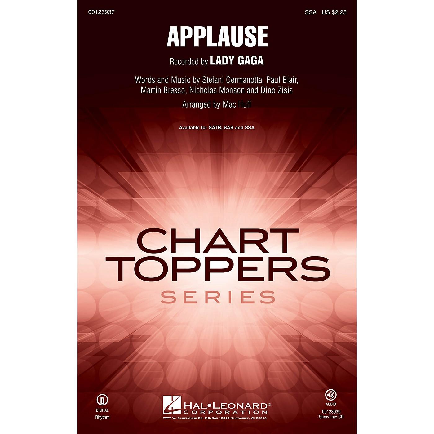 Hal Leonard Applause SSA by Lady Gaga arranged by Mac Huff thumbnail
