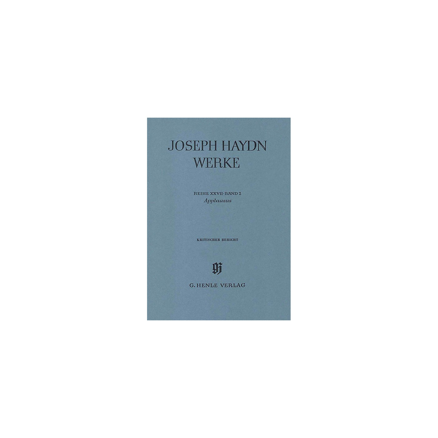 G. Henle Verlag Applausus Henle Edition Series Hardcover thumbnail