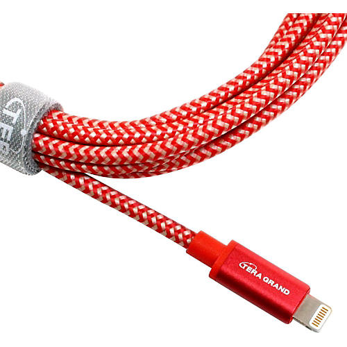 Tera Grand Apple MFi Certified - Lightning to USB Braided Cable with Aluminum Housing thumbnail
