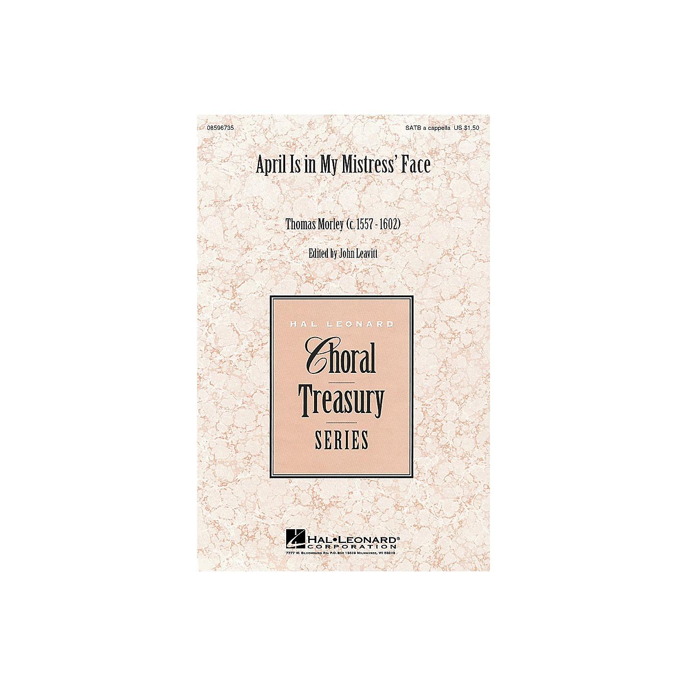 Hal Leonard April Is in My Mistress' Face (SATB) SATB a cappella arranged by John Leavitt thumbnail