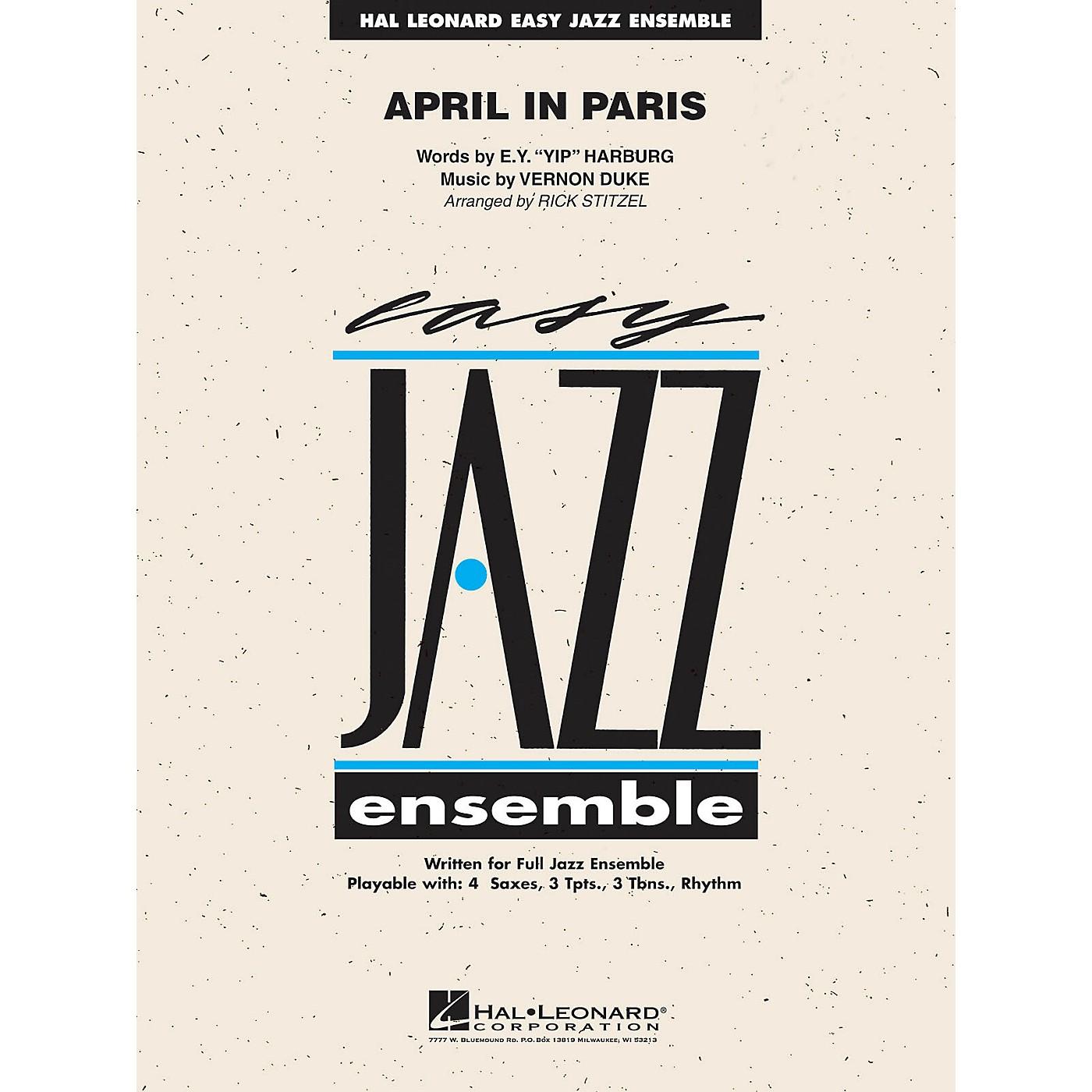 Hal Leonard April in Paris Jazz Band Level 2 Arranged by Rick Stitzel thumbnail