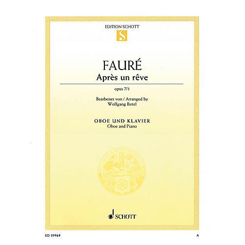 Schott Après un rêve, Op 7/1 (Arranged for Oboe and Piano) Woodwind Series Book thumbnail