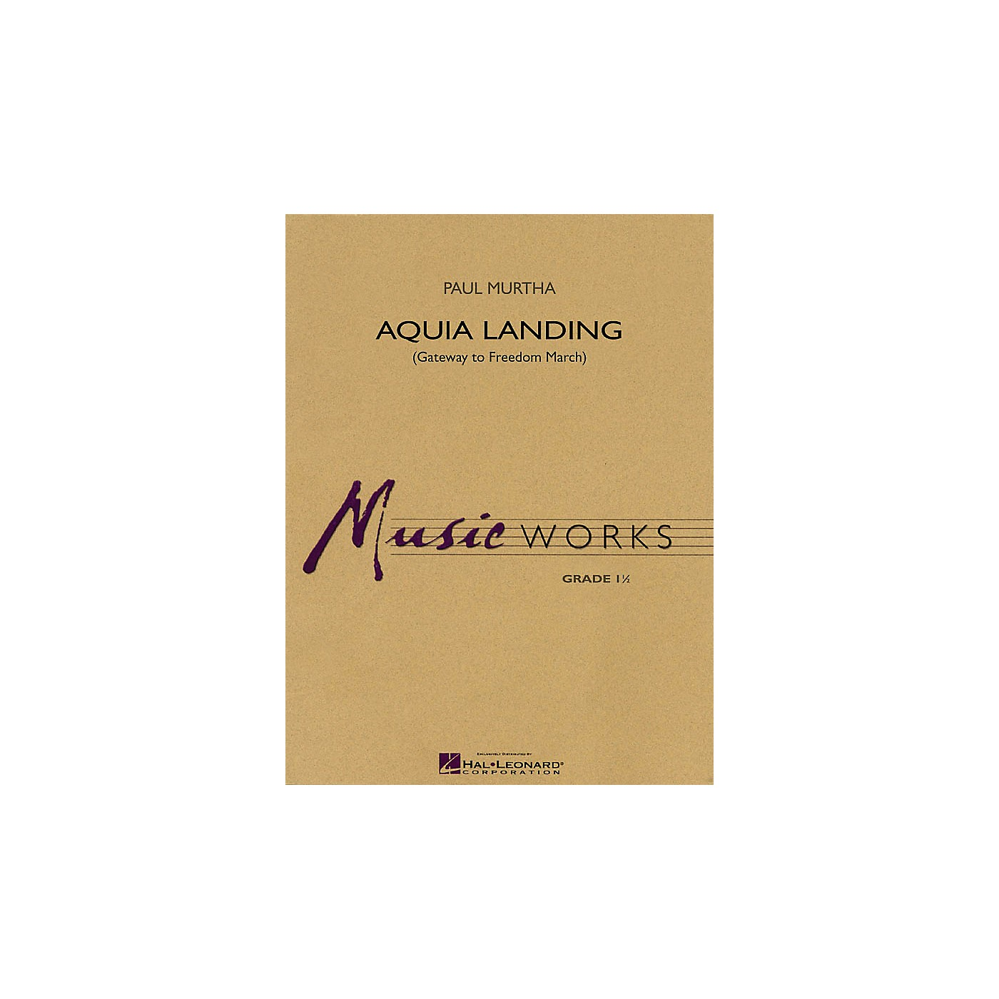 Hal Leonard Aquia Landing (Gateway to Freedom March) Concert Band Level 1.5 Composed by Paul Murtha thumbnail