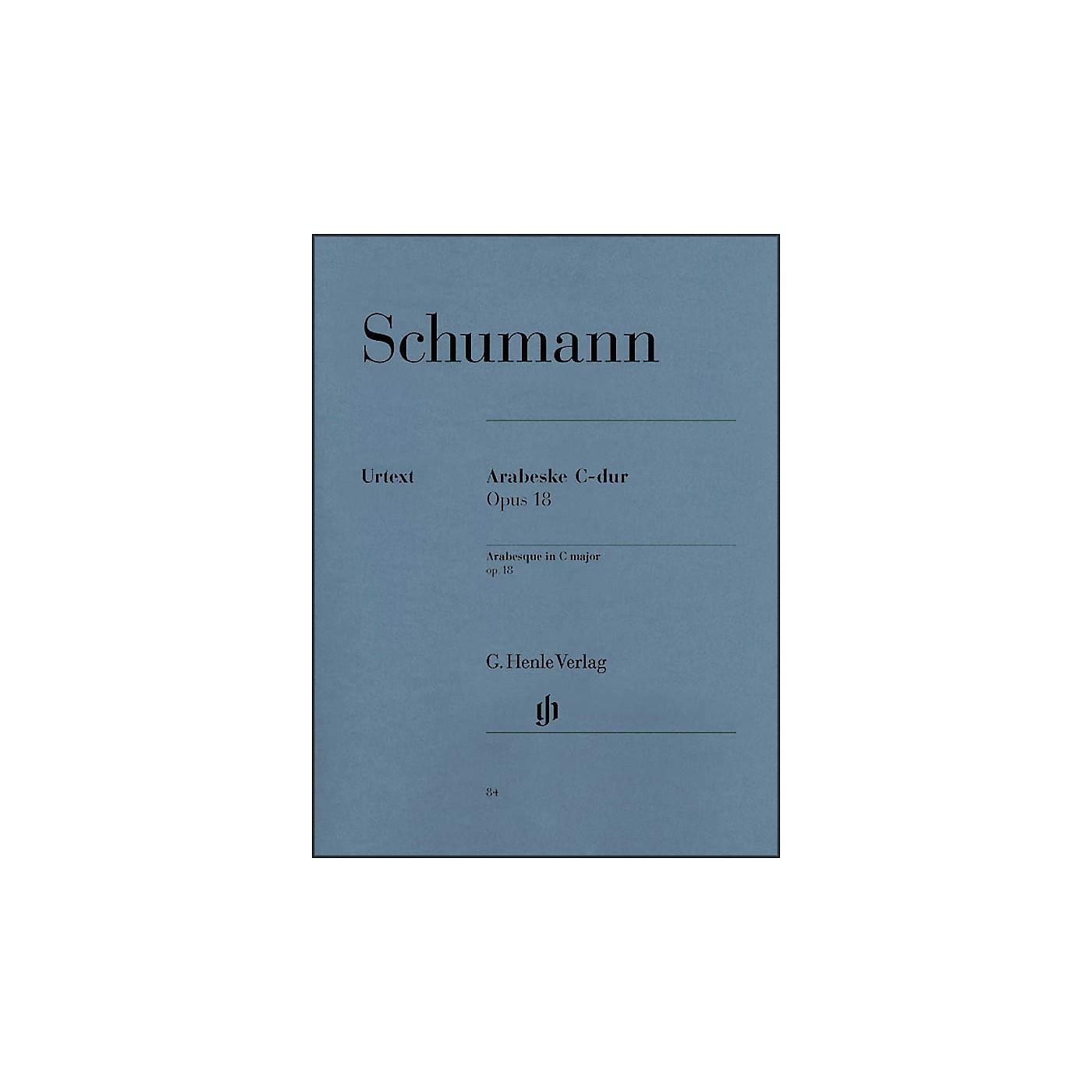 G. Henle Verlag Arabesque C Major Op. 18 By Schumann thumbnail
