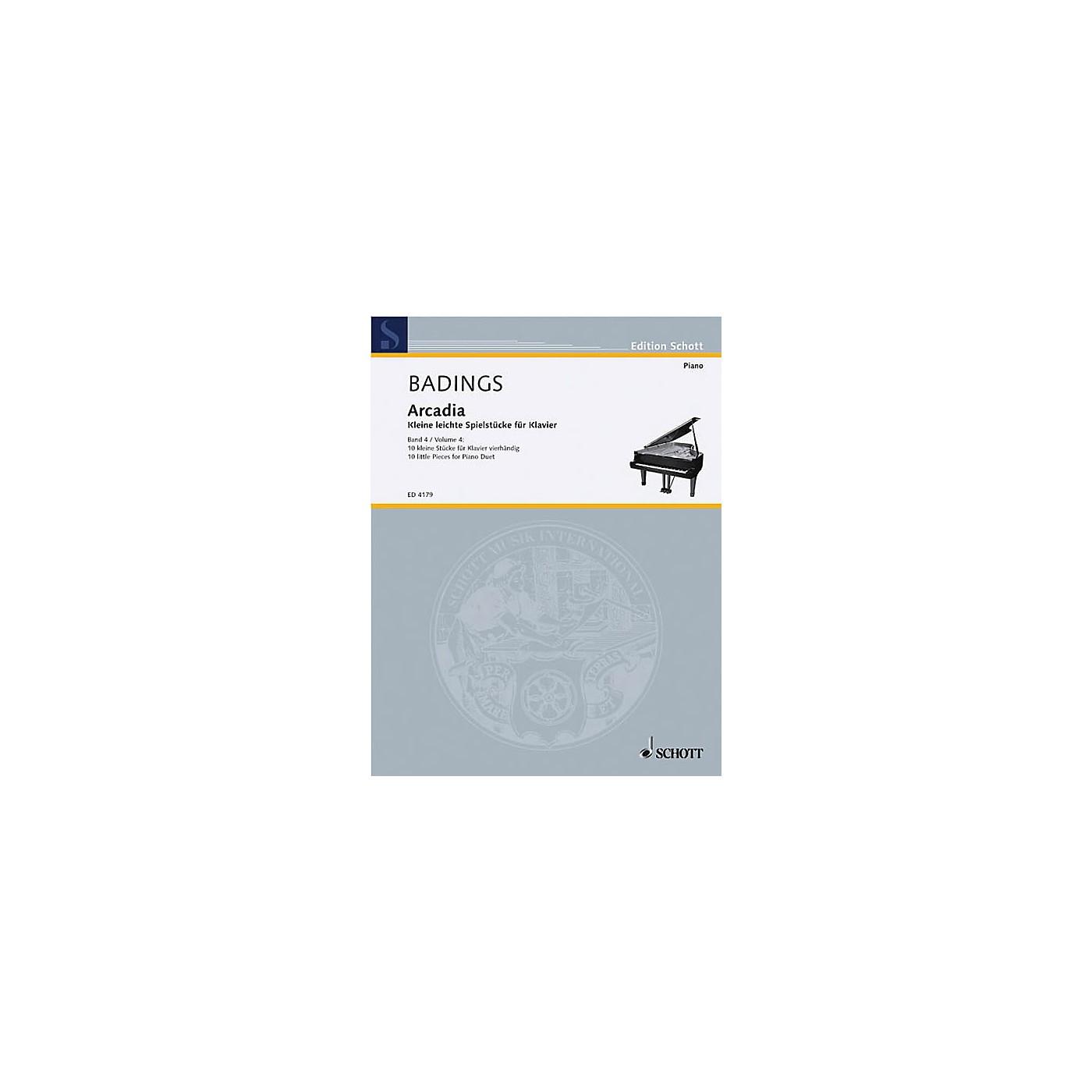 Schott Arcadia - Volume 4 (10 Little Pieces for Piano) Schott Series thumbnail