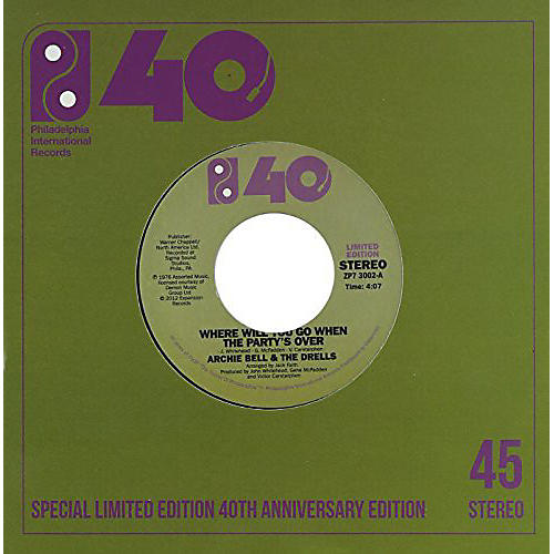 Alliance Archie Bell & the Drells - Where Will You Go When Party Is Over / Old People thumbnail