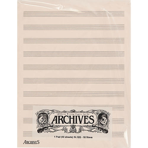 Archives Archives 10 Stave 50 Sheet thumbnail